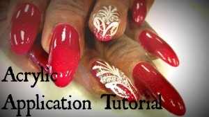 oval shaped nails, oval acrylic application